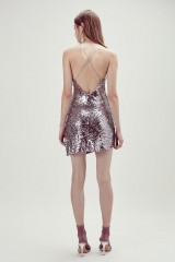 Drexcode - Short sequined dress with high slit - For Love and Lemons - Rent - 9