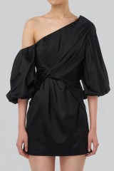 Drexcode - One shoulder dress with off-shoulder sleeves - Amur - Rent - 7