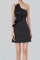 Drexcode - Short black dress with shoulder strap - Amur - Rent - 7
