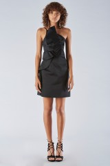 Drexcode - Short black dress with one-shoulder ruches detailing - Amur - Sale - 1