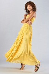 Drexcode - Yellow dress with side cuts - Amur - Rent - 1