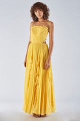 Drexcode - Yellow dress with side cuts - Amur - Sale - 3