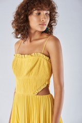 Drexcode - Yellow dress with side cuts - Amur - Sale - 4