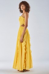 Drexcode - Yellow dress with side cuts - Amur - Sale - 5