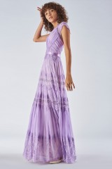 Drexcode - Lavender dress with lace applications - Catherine Deane - Rent - 4
