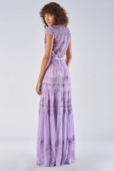 Drexcode - Lavender dress with lace applications - Catherine Deane - Rent - 5