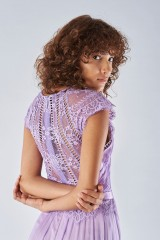 Drexcode - Lavender dress with lace applications - Catherine Deane - Rent - 2