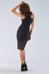 Drexcode - Blue lace dress with transparencies - Halston Heritage - Rent - 5