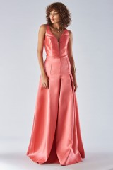 Drexcode - Satin dress with structured bodice - Forever unique - Rent - 4