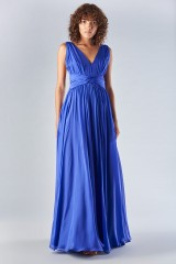 Drexcode - Long blue dress with uncovered back - Amur - Rent - 2