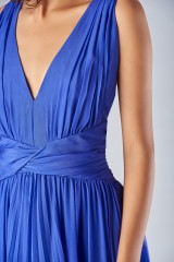 Drexcode - Long blue dress with uncovered back - Amur - Rent - 3