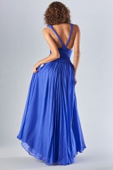 Drexcode - Long blue dress with uncovered back - Amur - Rent - 5