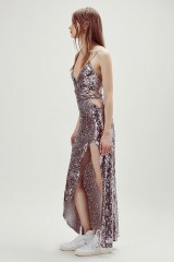 Drexcode - Long sequined dress with side cut-outs - For Love and Lemons - Rent - 11