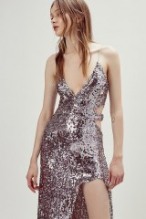 Drexcode - Long sequined dress with side cut-outs - For Love and Lemons - Rent - 10