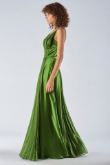 Drexcode - Long green dress with ruffles - Amur - Rent - 4