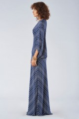 Drexcode - One shoulder dress with striped pattern - Halston - Rent - 3