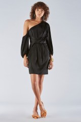 Drexcode - One shoulder dress with off-shoulder sleeves - Amur - Rent - 1