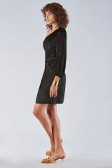 Drexcode - One-shoulder dress with off-shoulder sleeve - Amur - Sale - 6