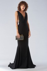 Drexcode - Black mermaid dress with a neckline - Fely Campo - Rent - 1