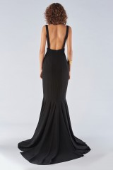 Drexcode - Black mermaid dress with a neckline - Fely Campo - Rent - 2