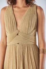 Drexcode - Braided glitter gold dress - Iris Serban - Rent - 3