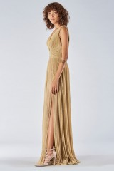 Drexcode - Braided glitter gold dress - Iris Serban - Rent - 4