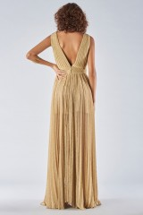 Drexcode - Braided glitter gold dress - Iris Serban - Rent - 6