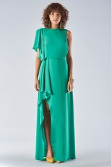 Drexcode - Green dress with slit - Halston Heritage - Rent - 4
