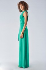Drexcode - Green dress with slit - Halston Heritage - Rent - 3