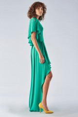 Drexcode - Green dress with slit - Halston Heritage - Rent - 5