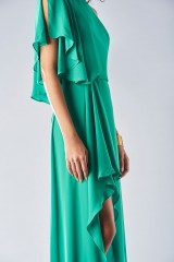 Drexcode - Green dress with slit - Halston Heritage - Rent - 6