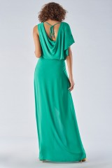 Drexcode - Green dress with slit - Halston Heritage - Rent - 2