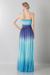 Drexcode - Blue degraded  bustier dress - Ports 1961 - Rent - 2