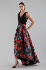 Drexcode - Dress with asymmetric patterned skirt - Theia - Rent - 4