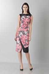 Drexcode - Fuchsia dress with geometric panels - Antonio Berardi - Sale - 1