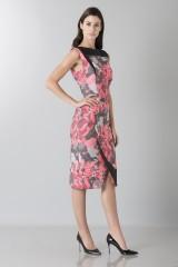 Drexcode - Fuchsia dress with geometric panels - Antonio Berardi - Sale - 3