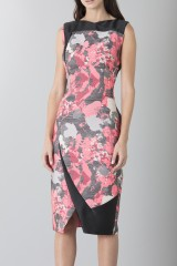 Drexcode - Fuchsia dress with geometric panels - Antonio Berardi - Sale - 4