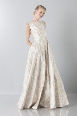 Drexcode - Long dress with golden pattern - Ports 1961 - Rent - 1