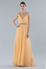 Drexcode - Peach chiffon dress - Alberta Ferretti - Rent - 2