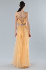 Drexcode - Peach chiffon dress - Alberta Ferretti - Rent - 5