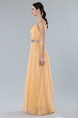 Drexcode - Peach chiffon dress - Alberta Ferretti - Rent - 4