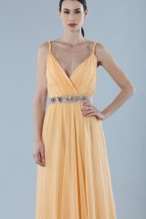 Drexcode - Peach chiffon dress - Alberta Ferretti - Rent - 3