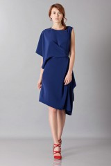 Drexcode - Dress with asymmetrical sleeves - Albino - Sale - 5