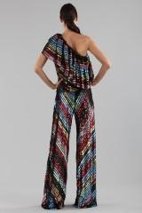 Drexcode - Dress in multicoloured sequins - Alcoolique - Sale - 5