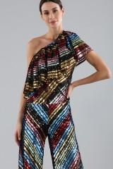 Drexcode - Dress in multicoloured sequins - Alcoolique - Sale - 4