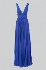 Drexcode - Long blue dress with uncovered back - Amur - Rent - 6