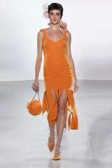 Drexcode - Orange knee-length dress with fringe - Chiara Boni - Rent - 3