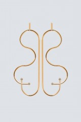 Drexcode - Gold butterfly-shaped earrings - Noshi - Sale - 2