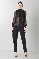 Drexcode - Camicia nera in seta - Blumarine - Rent - 3