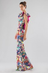 Drexcode - Printed dress with bare back  - Chiara Boni - Sale - 5